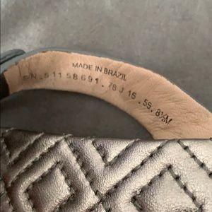 Tory Burch Shoes - Tory Burch Miller flip flop- silver